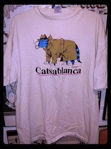 Vintage 1992 Goofy Catsablanca Cat Shirt